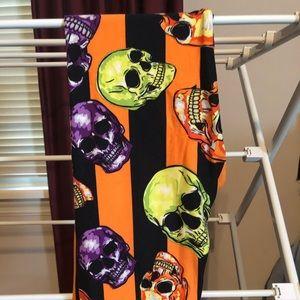 Lularoe Halloween Skull Leggings, OS